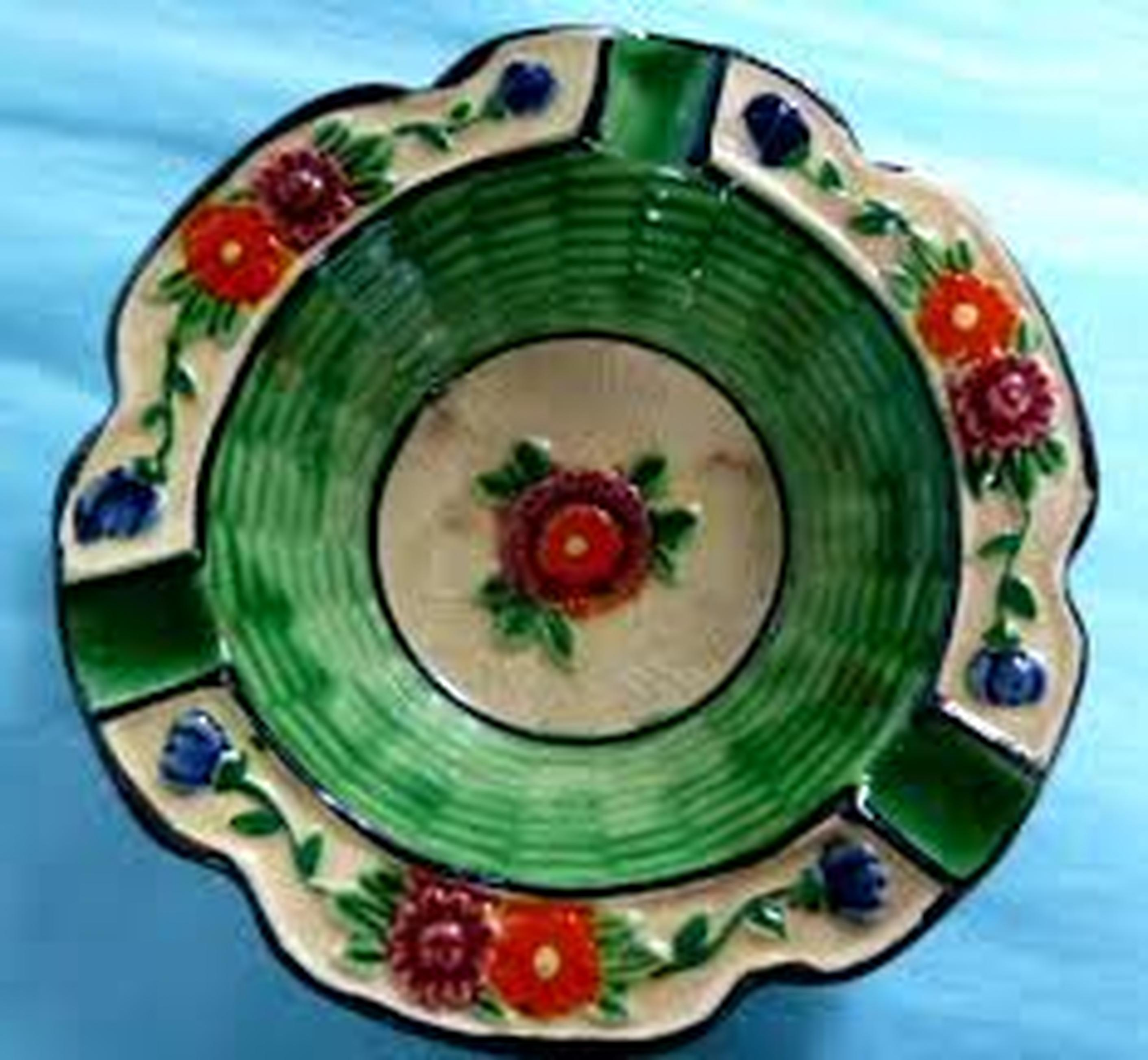 1910s - 1920s Maruhon ware ashtray ($22) Made in Japan. Hand painted. D: 115mm